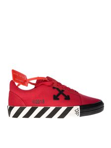 Off-White - Sneakers Vulcanised Striped Low Top rosse