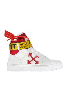 Off-White - Sneakers Industrial Belt Hi Top bianche