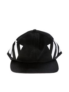 Off-White - Cappello Diag da baseball nero