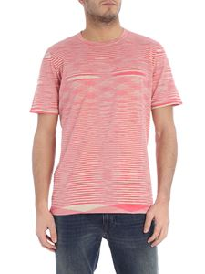 Missoni - Beige and fuchsia flamed cotton t-shirt