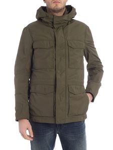 Woolrich - Utility army green hooded jacket
