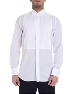 Finamore 1925 - Tuxedo white shirt with Plastron