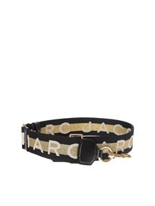 Marc by Marc Jacobs - Webbing M Jacobs black and golden shoulder strap