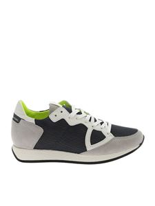 Philippe Model - Sneakers Monaco L grigie e blu
