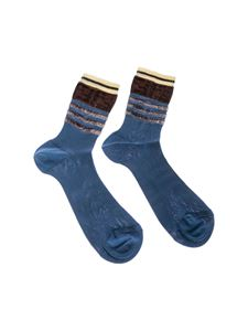 Fendi - Blue cotton knitted socks