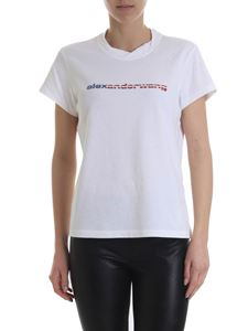 Alexander Wang - White t-shirt with USA logo