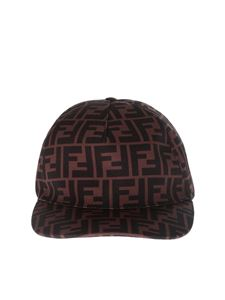 Fendi - Cappello da baseball in canvas FF
