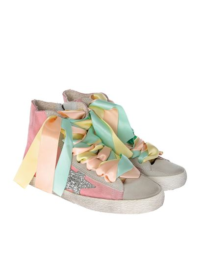 Golden Goose Deluxe Brand - Francy pink sneakers with satin laces