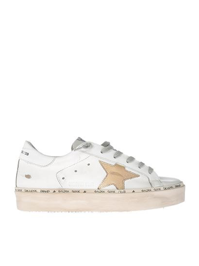 Golden Goose Deluxe Brand - Hi Star white sneakers with logo
