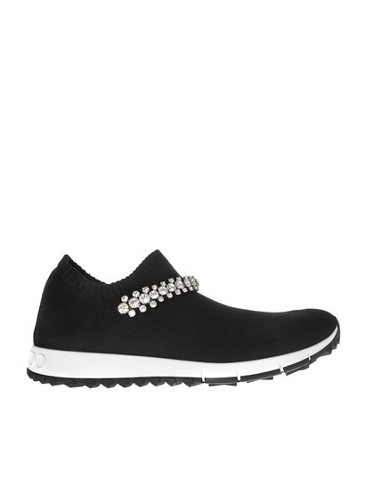 0a2255f17c77 Jimmy Choo Spring Summer 2019 verona black sneakers with crystal ...