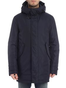 Fay - Fay blue hooded down jacket