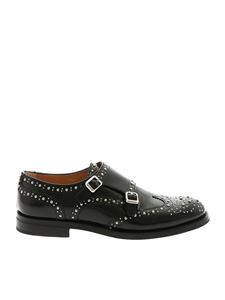 Church's - Monk strap nere con borchie