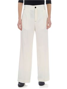 MM6 by Maison Martin Margiela - Cream white palazzo trousers
