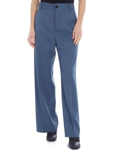MM6 by Maison Martin Margiela - Blue palazzo MM6 trousers