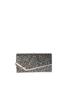 Jimmy Choo - Emmie golden and black clutch