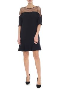Red Valentino - Black dress with nude effect detail