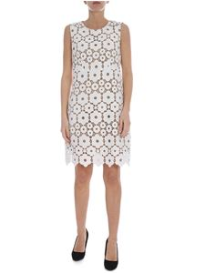 Dondup - White and beige macramé dress