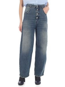 MM6 by Maison Martin Margiela - MM6 blue palazzp jeans
