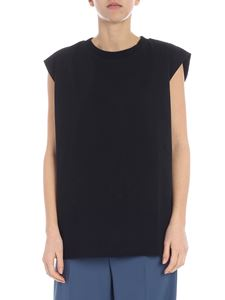 MM6 by Maison Martin Margiela - Black MM6 top with scarf