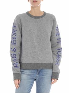 Rag & Bone - New York gray melange boxy sweatshirt