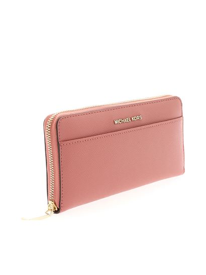 Michael Kors - Continental pink wallet with logo