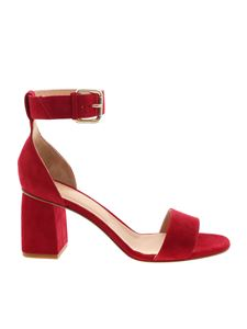 Red Valentino - Red suede open-toe sandals