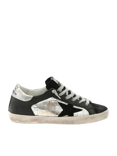Golden Goose Deluxe Brand - Black and silver Superstar sneakers