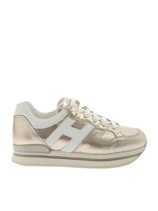 Hogan - H222 golden and white sneakers