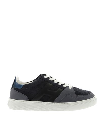 Hogan Spring Summer 2019 h365 blue sneakers with avio blue details ...
