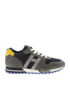 Hogan - H383 grey and blue sneakers