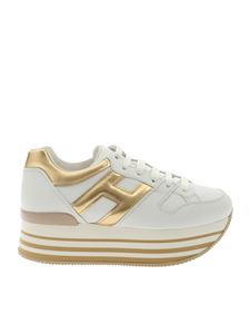 Hogan - H283 white and golden sneakers