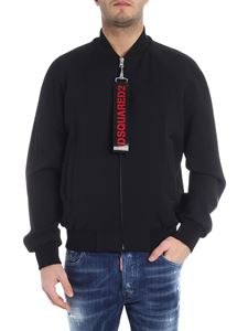 Dsquared2 - Dsquared2 black bomber jacket with logo