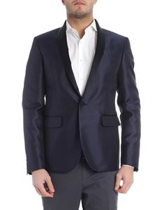 Dsquared2 - Blue and black one button jacket