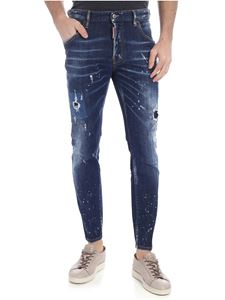 Dsquared2 - Jeans Skater blu destroyed