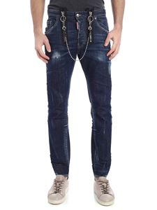 Dsquared2 - Skater blue jeans with chain detail