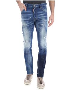Dsquared2 - Cool Guy destroyed blue jeans