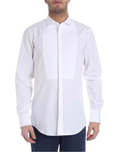 Dsquared2 - White shirt with plastron
