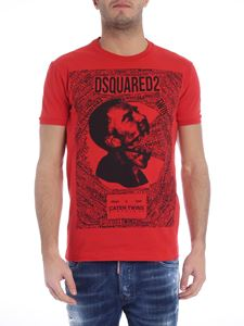 Dsquared2 - Caten Twins red t-shirt with black print