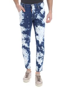 Dsquared2 - Skater bleached blue jeans
