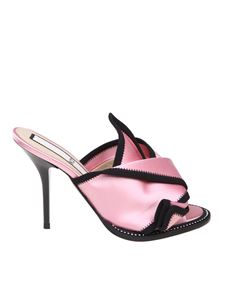 N° 21 - Pink satin open-toe mules