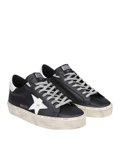 Golden Goose Deluxe Brand - Hi Star black sneakers with white star
