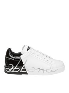 Dolce & Gabbana - Portofino white and black leather sneakers
