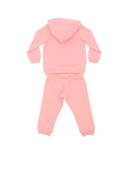 Moschino Kids - Pink tracksuit with logo print and Teddy Bear