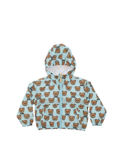 a334781b7bb4e Moschino Kids Spring Summer 2019 teddy bear light blue jacket ...