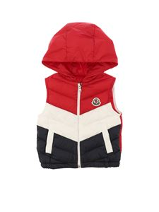 Moncler Jr - Hariki red white and blue waistcoat