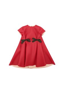 Fendi Jr - Red dress with branded bows