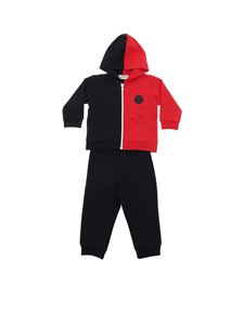 Moncler Jr - Red and blue tracksuit with rubber logo