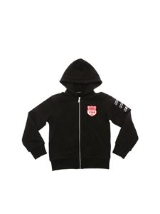 Dsquared2 - Black sweatshirt with red and white patches