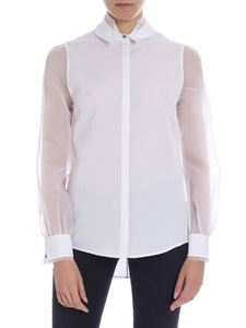 Karl Lagerfeld - White shirt with nude effect detail
