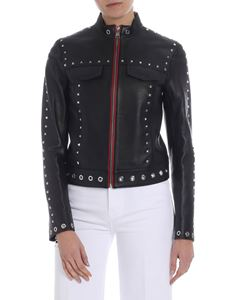 Karl Lagerfeld - Black studded leather jacket